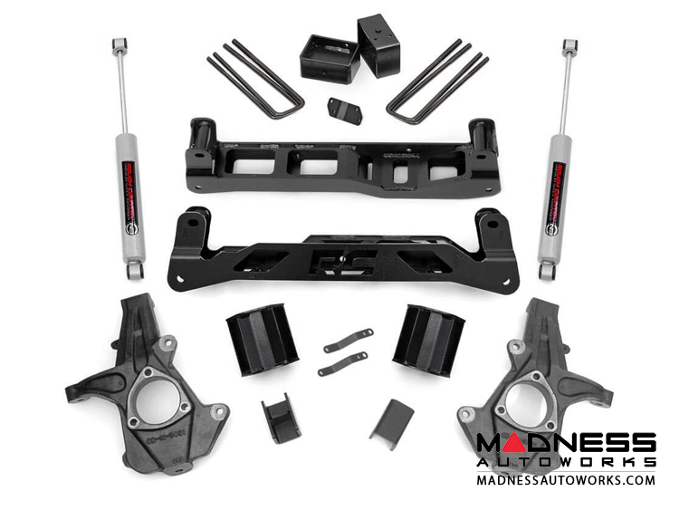 "Chevy Silverado 1500 2WD Suspension Lift Kit w/ Premium N3 Shocks - 5"" Lift"